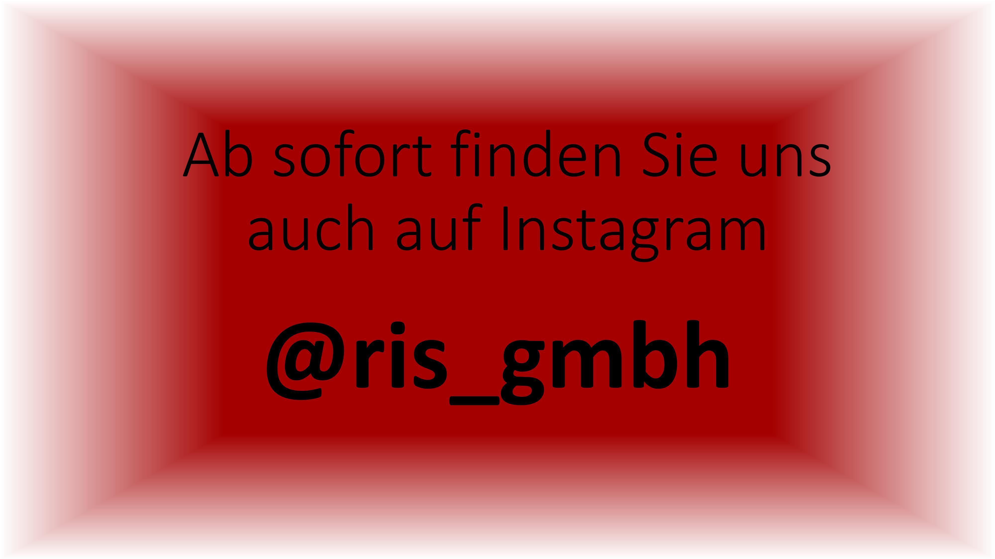 Ab sofort finden Sie uns auf Instagram!