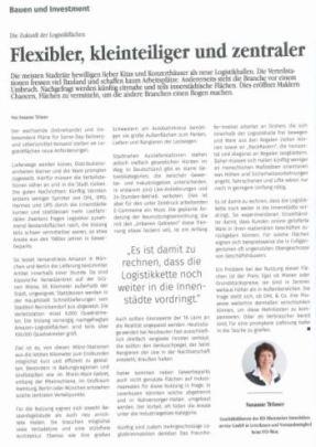 Die Zukunft der Logistikflächen - ein Beitrag von RIS Rheinischer Immobilienservice GmbH