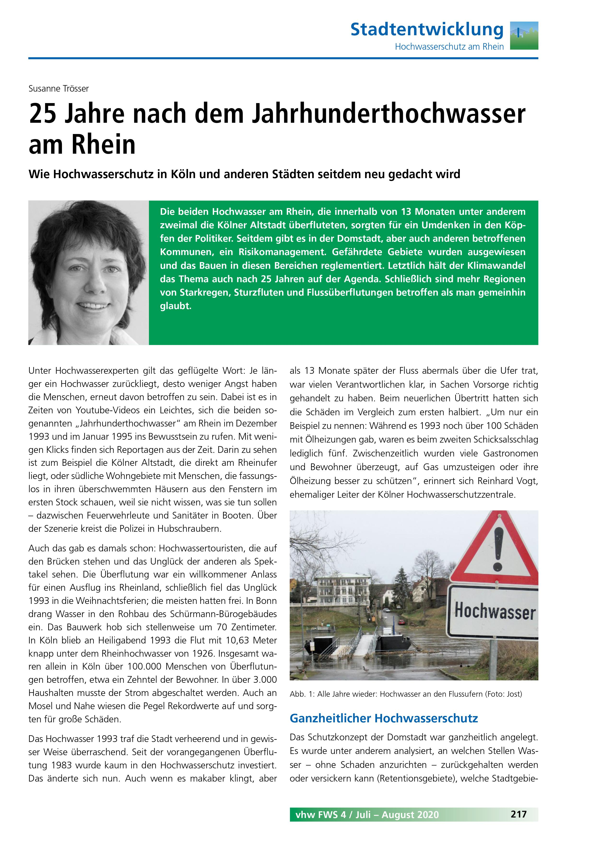 25 Jahre nach dem Jahrhunderthochwasser am Rhein