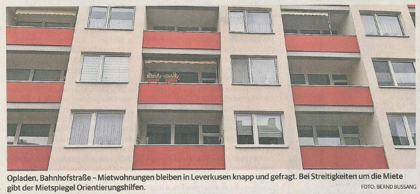 Neuer Mietspiegel hilft im Streitfall / Rheinische Post 03.April.2019